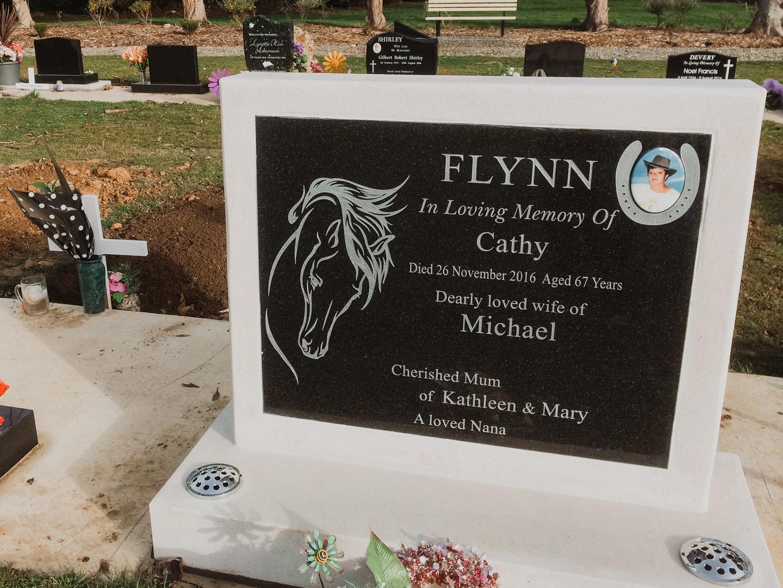 Horse Headstone in Invercargill