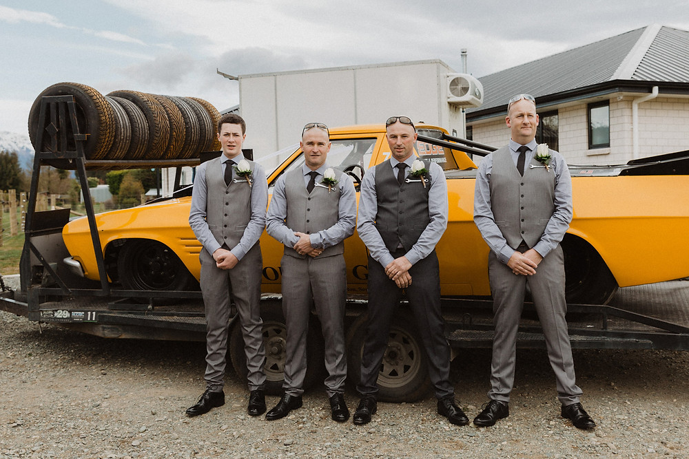 Te Anau helicopter and drag car wedding