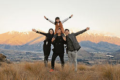 queenstown mountian sunset