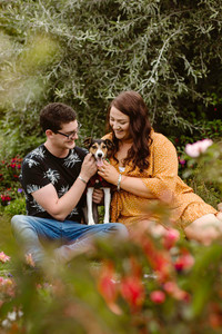 Andersons Park in Invercargill engagement photos