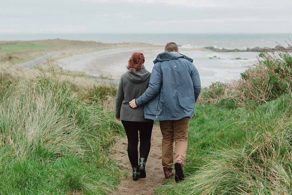 Engagement photos at Riverton Rocks