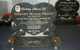 Heart shaped headstone in Invercargill