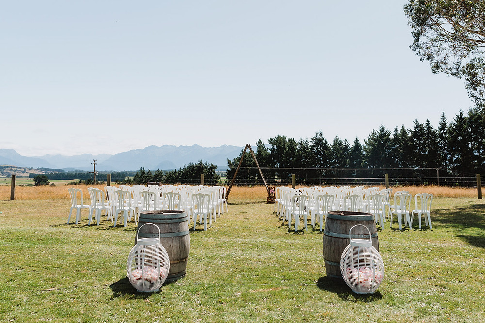 Wedding day on the family farm in Te Anau