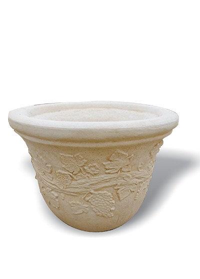 Small Round Grapevine Pot