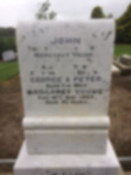 Faded and Ruined Headstone