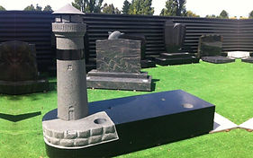 Lighthouse Headstone in Invercargill