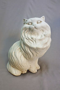 Cat stone statues in Invercargill