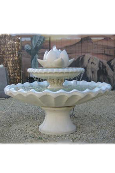 Large Lotus Fountain on Scallop Bowl