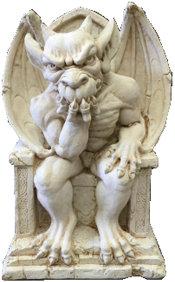 Gargoyle on Throne