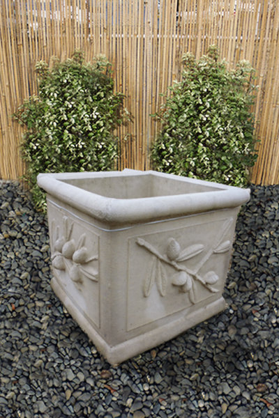 Olive Planter – Large Square