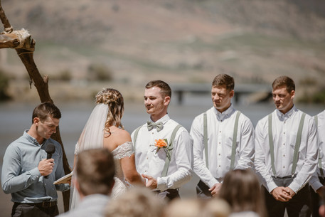 Wedding at Lowburn Outlet in Cromwell