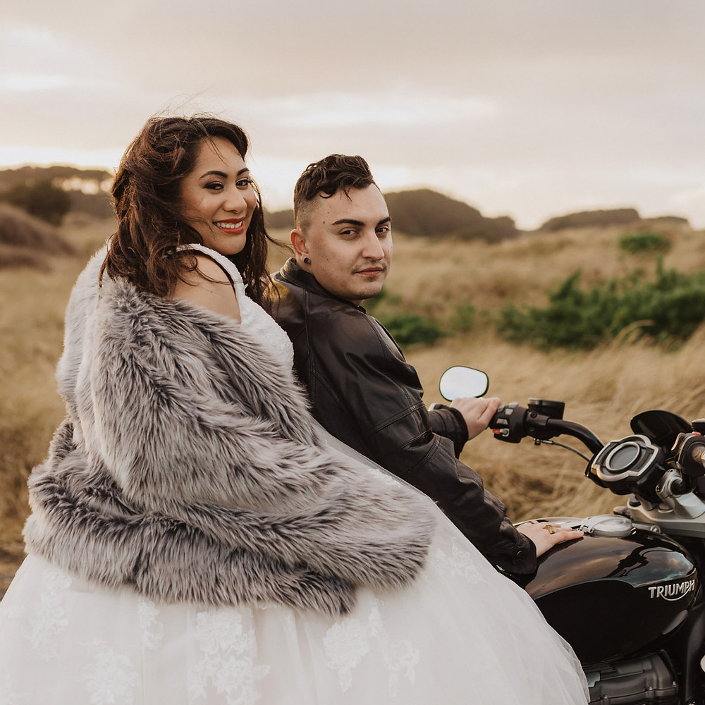 Motorbike Wedding in Invercargill