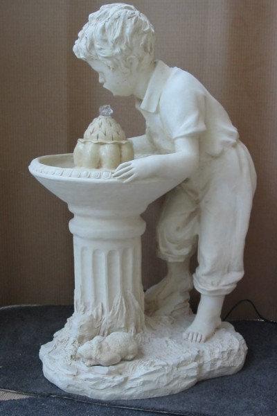 Boy Drinking Fountain