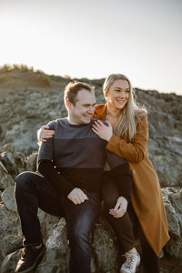Sunrise engagement photos in Riverton