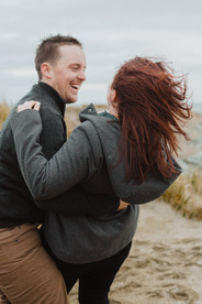 Engagement photos at Riverton Rocks