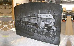Truck Headstone made in Invercargill