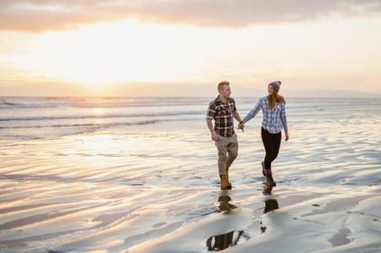 Invercargill sunset photos at Oreti Beach