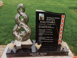 Koru Headstone in Invercargill