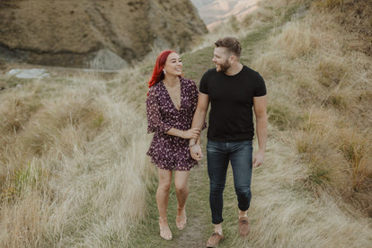 Queenstown river and mountain engagement photos