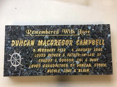 Newly Restored Memorial Plaque