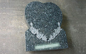 Southland Headstone in the Shape of a Heart