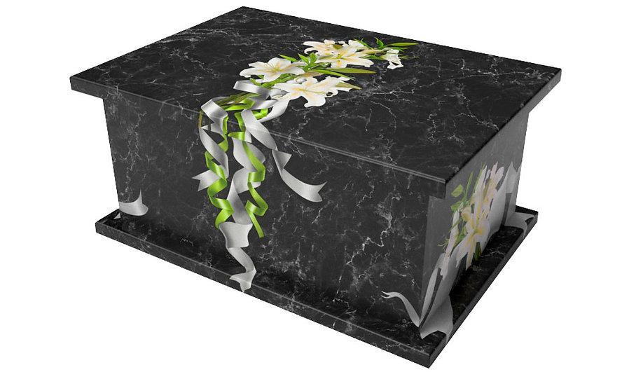 Black Marble Lilies