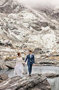 Winter elopement at Lake Alta