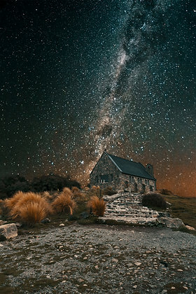 Starry Night at Church of the Good Shepard