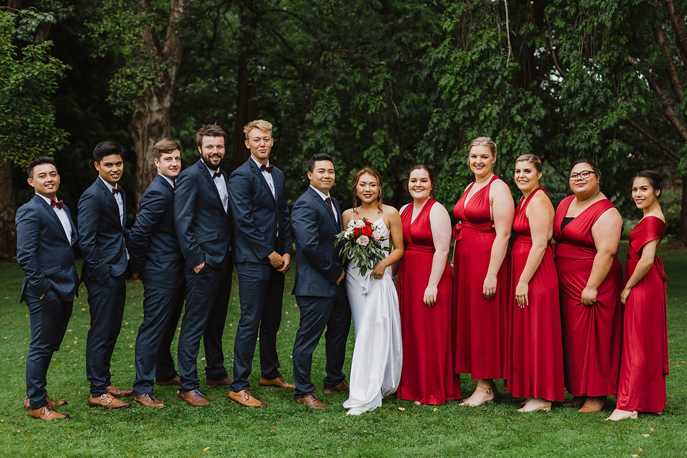 Invercargill wedding with bridal photos at Queens Park