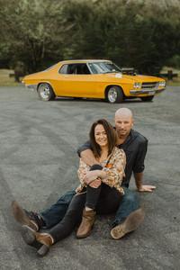 Te Anau drag car engagement photos