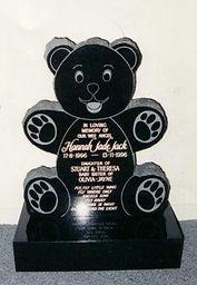 Teddy Bear Headstone in Invercargill