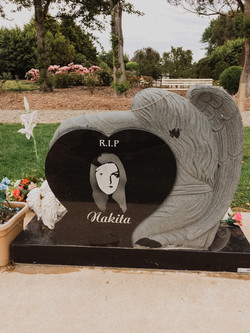 Weeping Angel Headstone