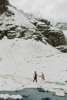 Queenstown helicopter proposal in the snow