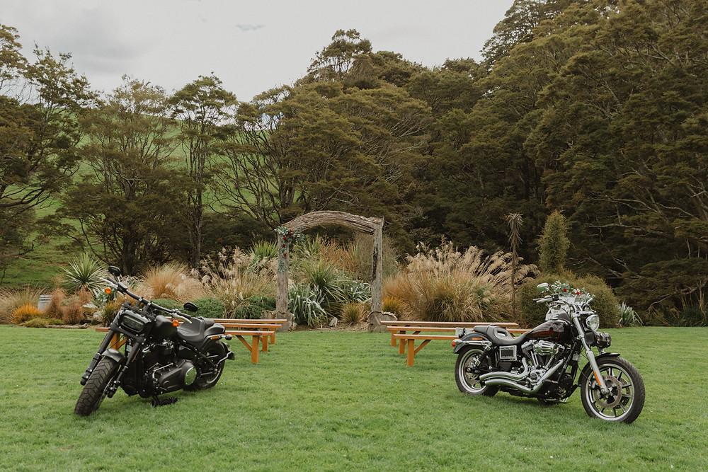River Ridge Retreat Motorbike Wedding