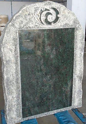 Pitched Rock Headstone