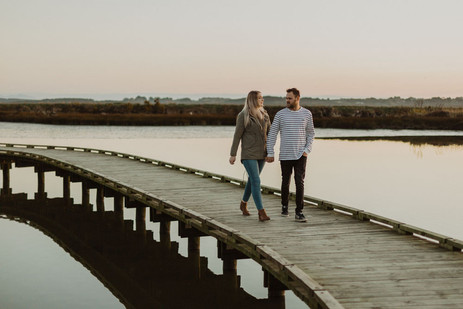 Invercargill estuary boardwalk sunset photos