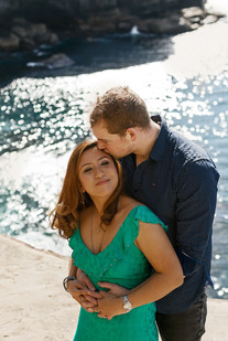 Engagement photos at Diamond Bay in Sydney