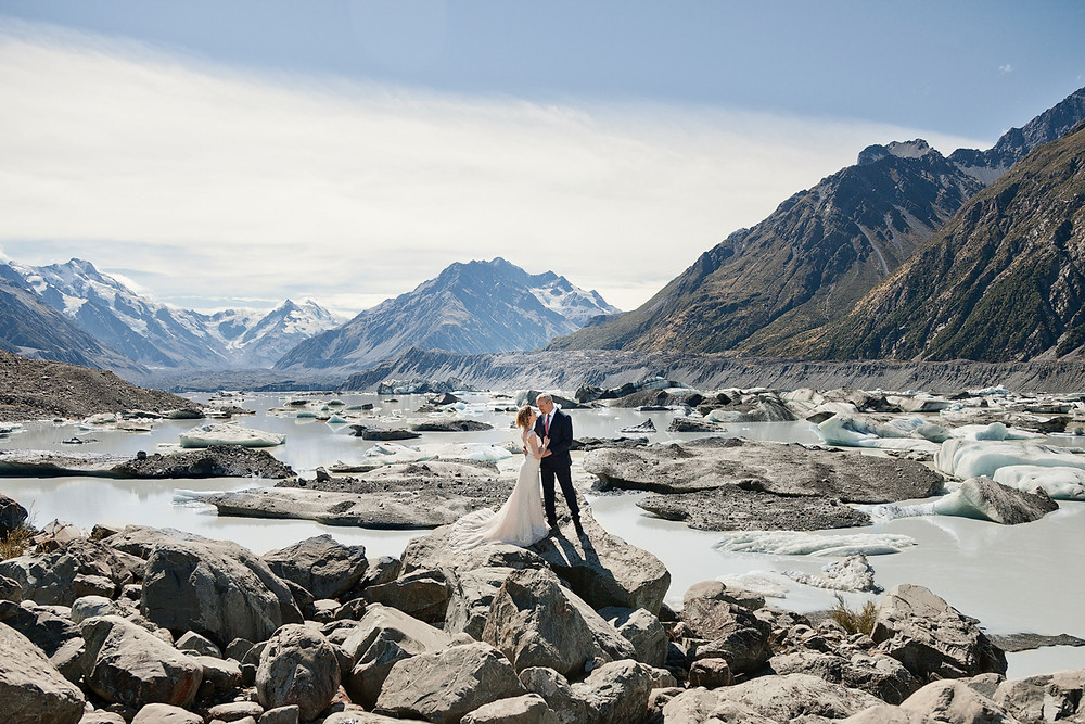 Mount Cook summer elopement