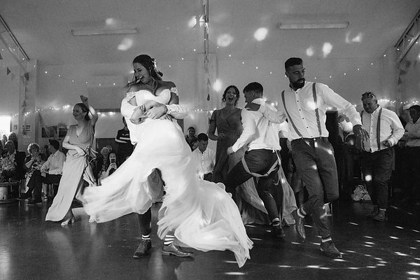 wedding party on the dance floor