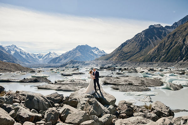 Mount Cook Glacial Lake Elopement