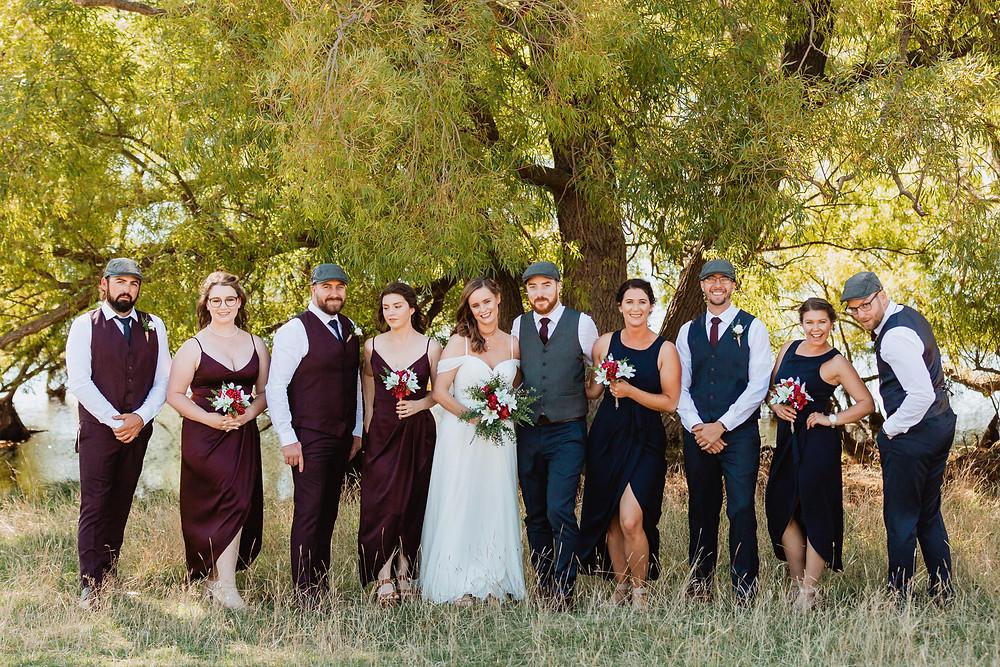 Wedding Day Photos at Conroy's Dam in Alexandra