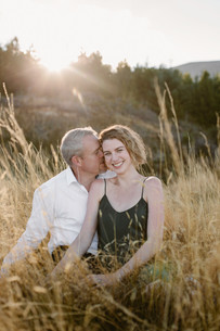 Mount Cook sunset engagement photos