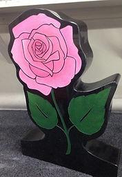 Pink Rose Headstone