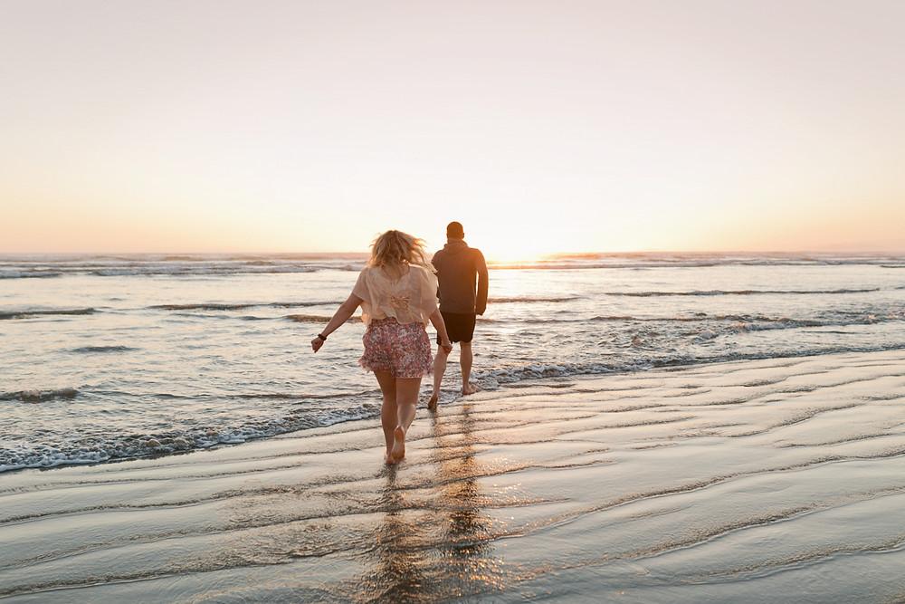 Oreti Beach sunset couple photos