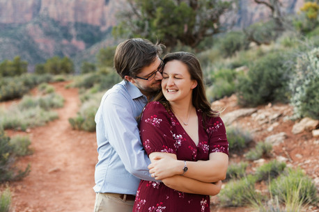 Engagement photos in Zion National Park, Utah