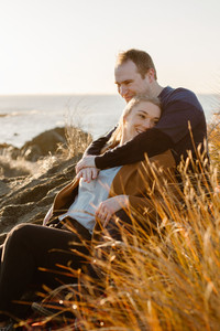 Riverton sunrise engagement photos