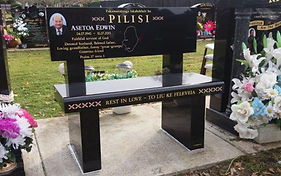 Headstone that is also a seat