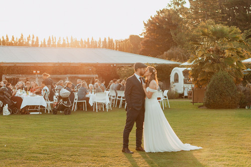 The Packing Shed Wedding sunset reception