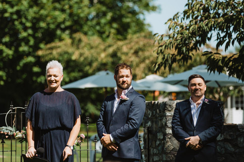 Invercargill Wedding at the Abbey in Tussock Creek. Bridal party photos at Sandy Point and reception at the Cabbage Tree