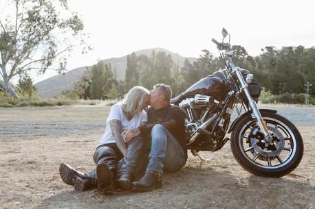 Lake Avimore motorbike engagement photos